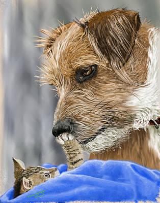 Terrier Digital Art - Friends Of Norfolk Animal Care Center  by Myke  Irving