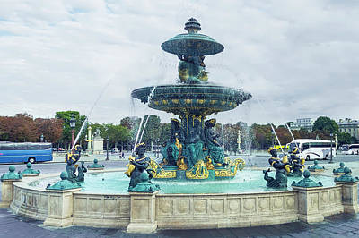 Photograph - Fontaines De La Concorde, Paris by Kay Brewer