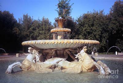 Fontana Dei Cavalli Marini  Print by Fabrizio Ruggeri