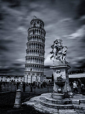 Winter Animals Rights Managed Images - Fontana dei PuttI and the Leaning Tower of Pisa Royalty-Free Image by Micah Goff