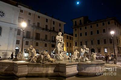 Fontana Del Moro I Art Print by Fabrizio Ruggeri