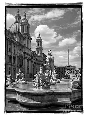 Fontana Del Moro.rome.italy Print by Jennie Breeze