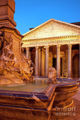 Photograph - Fontana Del Pantheon by Brian Jannsen