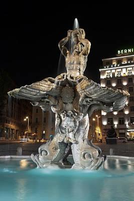Fontana Del Tritone I Print by Fabrizio Ruggeri