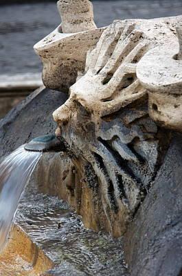 Fontana Della Barcaccia Sun Art Print by Alan Zeleznikar