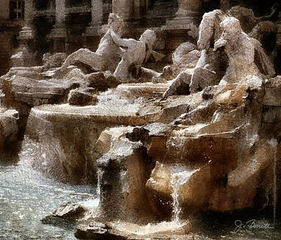 Photograph - Fontana Di Trevi by Joe Bonita
