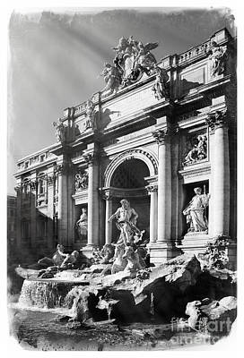 Fellini Photograph - Fontana Di Trevi Rome, Italy - Bw by Stefano Senise