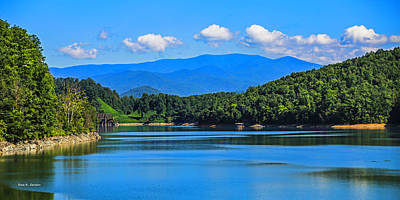 Photograph - Fontana Lake View by Bluemoonistic Images