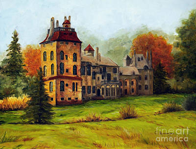 Mercer Tile Painting - Fonthill Castle by Cindy Roesinger