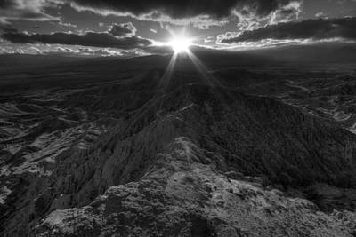 Anza Borrego Desert Photograph - Font's Point Sunset by Peter Tellone
