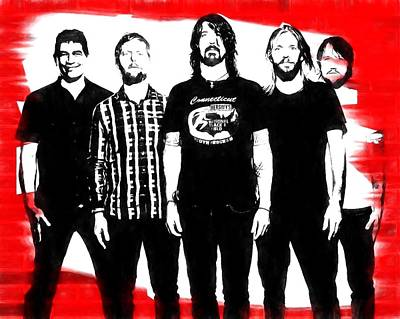 Music Royalty-Free and Rights-Managed Images - Foo Fighters Graphic Tribute by Dan Sproul