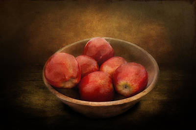 Apple Photograph - Food - Apples - A Bowl Of Apples  by Mike Savad