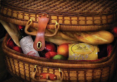 Vino Photograph - Food - Let's Picnic by Mike Savad