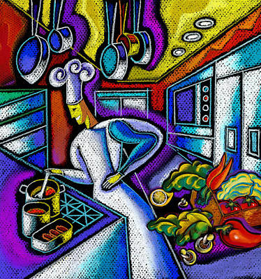 Food And Restaurant Art Print by Leon Zernitsky