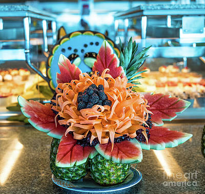 Venice Beach Bungalow - Food Carving by Shaun Wilkinson