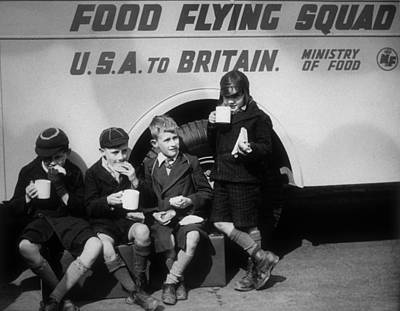 Children Only Photograph - Food Flying Squad by Fox Photos
