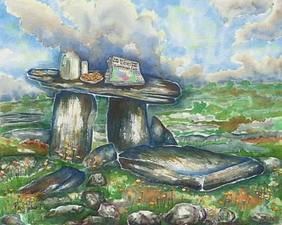 Henge Painting - Food For The Gods by Barb Toland