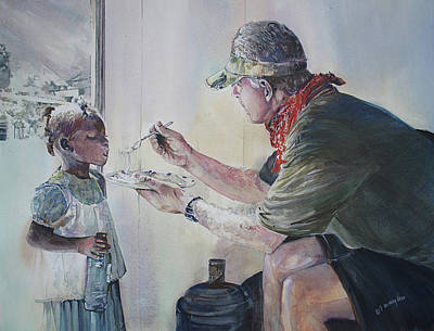 Characteristics Painting - Food For Thought by P Anthony Visco