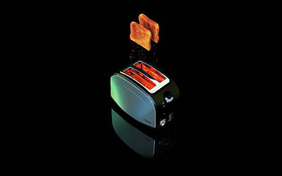 Toaster Digital Art - Food Toaster                     by F S