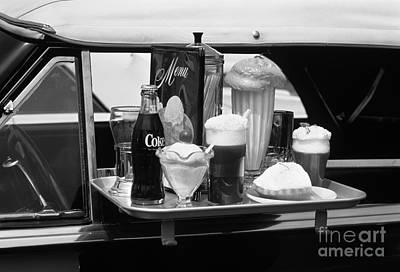 Food Tray At A Retro Drive In, C.1990s Art Print