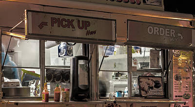 Oreos Photograph - Food Truck Serving Window On A Very Cold Night by Al Rempel
