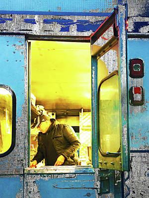 Food Stores Mixed Media - Food Truck by Tony Rubino