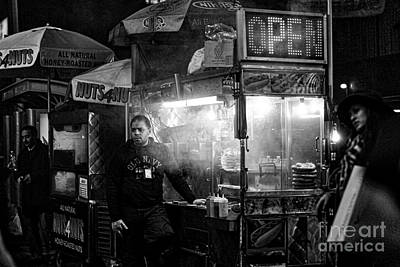 Photograph - Food Vendor In Nyc by Kate Purdy