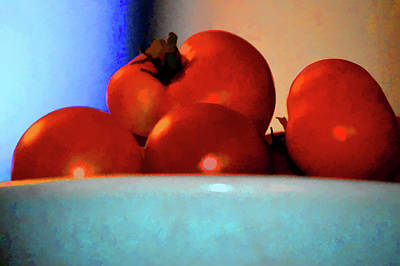 Photograph - Food Vine Ripe And Ready Tomato Art by Lesa Fine