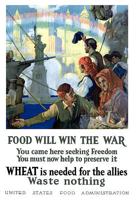 Liberty Painting - Food Will Win The War by War Is Hell Store