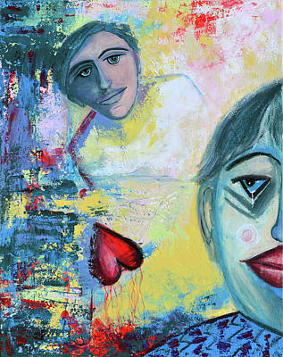 Clown Art Painting - Foolish Love by Donna Blackhall