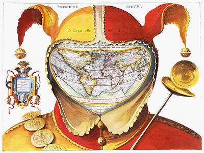 Photograph - Fools Cap World Map, C1590 by Granger