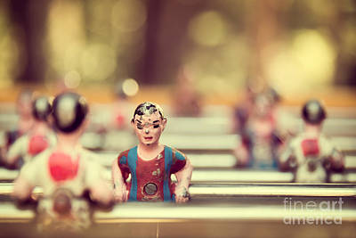 Football Royalty-Free and Rights-Managed Images - Foosball by Delphimages Photo Creations