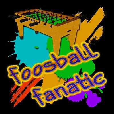 Foosball Fanatic Art Print by David G Paul