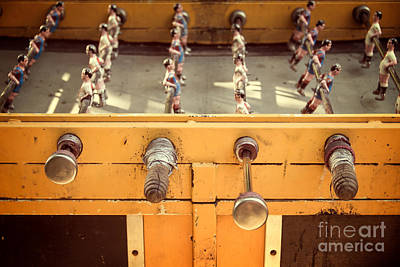 Football Royalty-Free and Rights-Managed Images - Foosball table by Delphimages Photo Creations