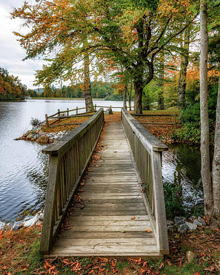 Photograph - Foot Bridge At Linville Land Harbor by Steve Hurt