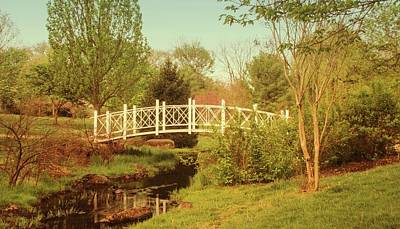 Photograph - Foot Bridge In The Garden by Angie Tirado