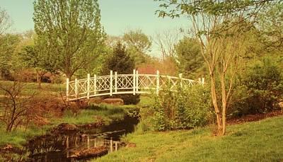 Photograph - Foot Bridge In The Garden by Angie Tirado