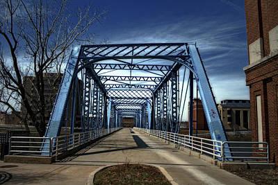 Foot Bridge Over The Grand River Art Print