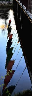 Jerry Sodorff Royalty-Free and Rights-Managed Images - Foot Bridge Reflections 487 by Jerry Sodorff