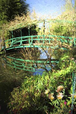 Claude Photograph - Foot Bridge Reflections In Monet's Garden by David Smith