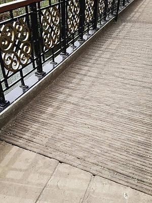 Rustic Scenes Photograph - Foot Bridge by Tom Gowanlock