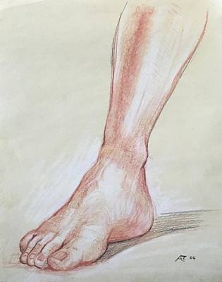 Drawing - Foot From Life  by Alejandro Lopez-Tasso