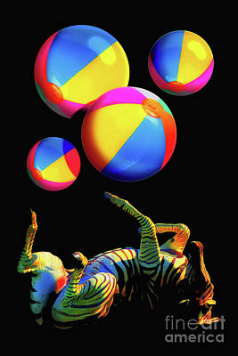 Photograph - Foot Juggling Zebra by Toula Mavridou-Messer