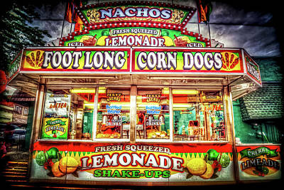 Foot Long Corn Dogs Art Print by Spencer McDonald