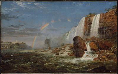 Foot Hills Painting - Foot Of Goat Island by Niagara Falls