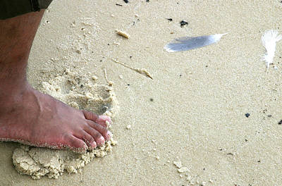 Foot  On  Beach -  Image  2 -  Cropped  Version Art Print