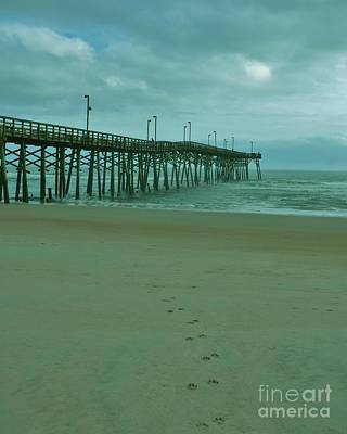 Photograph - Foot Prints To The Pier by Bob Sample