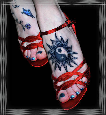 Photograph - Foot Tattoos by Amanda Vouglas