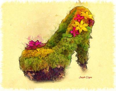 Leaf Digital Art - Foot World - Da by Leonardo Digenio