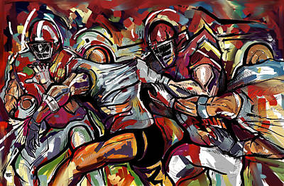 Painting - Football Frawl by John Jr Gholson